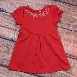 Joe fresh girls red embroidered dress